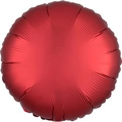 Balon folie 45 cm rotund Satin Luxe Sangria, Amscan 38583