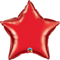 "Metallic Red Star Mini Foil Balloon - 4""/10 cm, Qualatex 22883, 1 piece"
