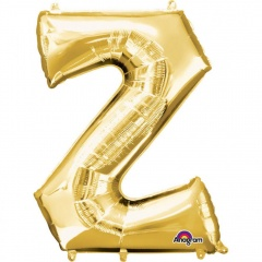 83 cm Gold Letter Z Shaped Foil Balloon, Amscan 33000