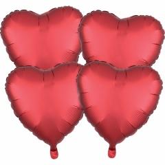"Metallic Sangria Red Heart Foil Balloon - 18""/45 cm, Amscan 38980, 1 piece"