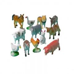 Jucarii Pinata - Figurine Animalele Fermei, Amscan 390356, Set 12 buc
