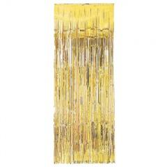 Perdea decorativa din folie metalizata aurie - 240 x 91.4 cm, Amscan 24200-19