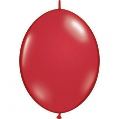 Ruby Red Cony Latex Balloon, 6 inch (16 cm), Qualatex 90280, Pack of 50 pieces