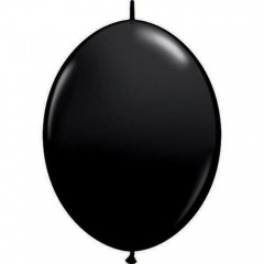 Onyx Black Cony Latex Balloon, 6 inch (16 cm), Qualatex 90176, Pack of 10 pieces
