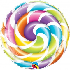 "9"" Lollipop Air Fill Microfoil Balloon, Qualatex 58457"