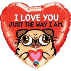 "18"" I Love You Heart Shaped Foil Balloon, Qualatex 78551"