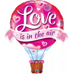 """42"""" Love Is In The Air Balloon Shape Foil Balloon, Qualatex 78529"""