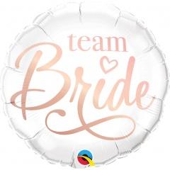Balon Folie 45 cm Team Bride, Qualatex 88165
