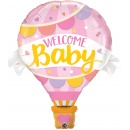 "42"" Welcome Baby Pink Balloon Shape Foil Balloon, Qualatex 78656"