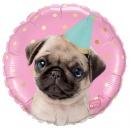 Balon Folie 45 cm Party Pug, Qualatex 57617