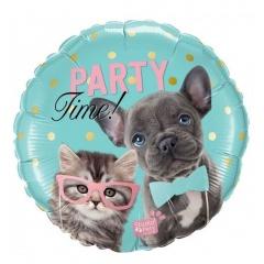 Party time, 45 cm Foil Balloon - Qualatex 57614