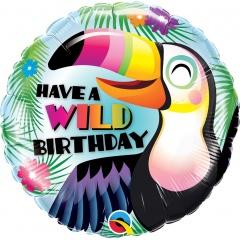 Balon Folie 45 cm Have A Wild Happy Birthday, Qualatex 78660