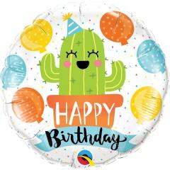 Balon Folie 45 cm Birthday Party Cactus, Qualatex 78664