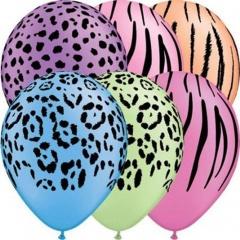 "11"" Printed Latex Balloons, Disco Neon Asortate, Qualatex 21575"