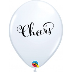 "Baloane latex 11""/28 cm inscriptionate Cheers, Qualatex 90992"
