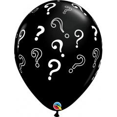 "11"" Printed Latex Balloons Question Mark, Qualatex 85843"