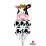 "Baloane latex 11""/28 cm inscriptionate Holstein Cow, Qualatex 11633"