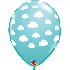"11"" Printed Latex Balloons Clouds, Qualatex 53436"