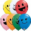 "Baloane latex 11""/28 cm inscriptionate Smiley Faces, Qualatex 85705"