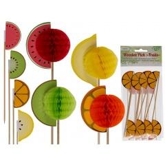 Scobitori decorative cu fructe - H: ca. 18 cm, Radar 500172, 8 buc/set