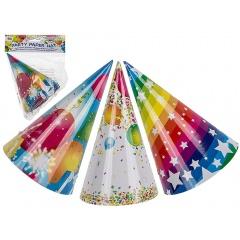 Coifuri petrecere, colorate, ca. 16 cm, Radar 62/0806, Set 6 coifuri, 3 modele