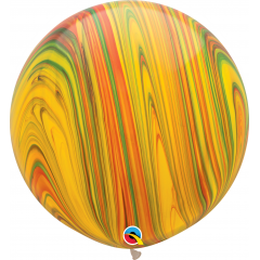 Traditional SuperAgate Latex Balloon, 30 inch (75 cm), Qualatex 55377, Pack of 2 pieces
