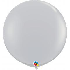 Baloane latex Jumbo 3' Grey, Qualatex 92300, 1 buc