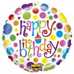 Balon Folie 53 cm Happy Birthday Buline, Radar 14308WE