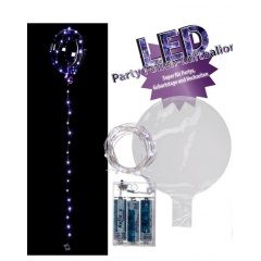 Party Foil Balloon with white lightchain - ca. 45 cm (inflated),  30 led-uri, Radar 62/0816