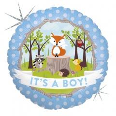Balon Folie 45 cm It's A Boy - Animalute, Holografic, Radar 36179H