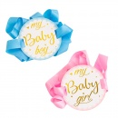 Panglica baby shower My Baby Boy / Girl, Radar 41392, 1 buc, 2 culori