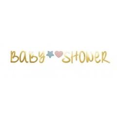 Banner decorativ pentru petrecere baby shower  - auriu, 2.2 m, Radar 54486