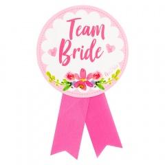 """Badge Bridesmaid - """"Team Bride"""" - ca. 13 cm, Radar 41390"""