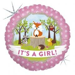 Balon Folie 45 cm It's A Girl - Animalute, Holografic, Radar 36180H