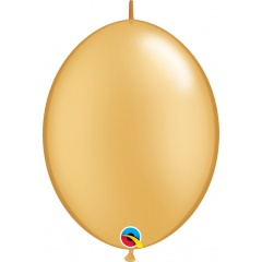 """6"""" Gold Quick Link Balloons, 6 inch (15 cm), Qualatex 90267, pack of 25 pcs"""