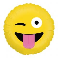 "Emoji Wacky Round Foil Balloon - 18""/45 cm, Radar 36593P"