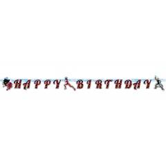 Banner decorativ pentru petrecere, Miraculous, 200 x 15 cm, 9902879, 1 buc