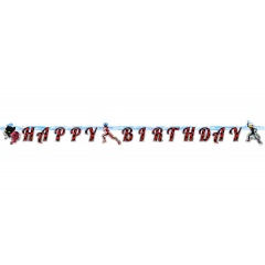 Miraculous Happy Birthday Letter Banner - 200 x 15 cm, 9902879, 1 piece