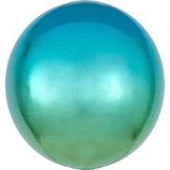 Ombre Orbz Blue & Green Foil Balloon, 38 x 40 cm, 39849