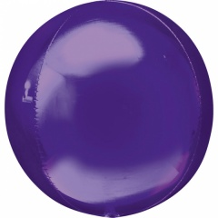 Orbz Purple Foil Balloon - 38 x 40 cm, 28207