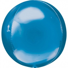 Orbz Blue Foil Balloon - 38 x 40 cm, 28204