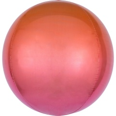 Balon folie Ombre Orbz Red & Orange - 38 x 40 cm, 39847