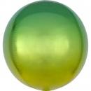 Ombre Orbz Yellow & Green Foil Balloon, 38 x 40 cm, 39846