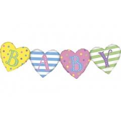"Baby Banner Foil Balloon, 41""/104 cm, Radar 35877"