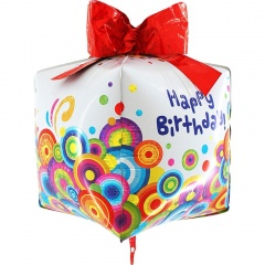Balon Folie Cubez Happy Birthday - 76 cm, Radar 74000H