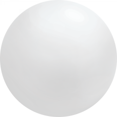 4ft White Chloroprene Latex Balloon, Qualatex 91215, 1 piece