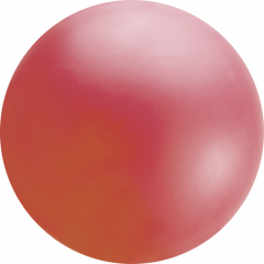 5.5ft Red Chloroprene Latex Balloon, Qualatex 91219, 1 piece