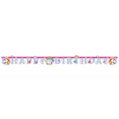 Happy Birthday Unicorn Letter Banner - 1.8 m, 9902107, 1 piece