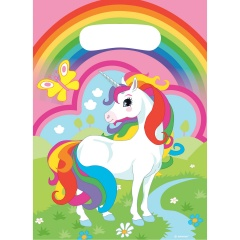 Unicorn Party Treat Bags - Party Supplies, 9902106, Pack of 8 pieces
