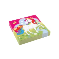 20 Napkins Unicorn, 33 cm, Amscan 9902103